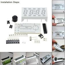 Simple 4-digit DIY Digital LED Clock Kit White Desktop Electronic Mini-Clock