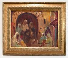 """Eliot Candee Clark  Listed  American Antique oil """"Morroco"""" sig, dat 1930 Exhibit"""