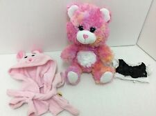 "Smallfrys Build A Bear Pink Tie Dyed With Robe And Shirt 7"" Plush"