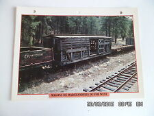 CARTE FICHE TRAIN WAGONS DE MARCHANDISES DU FAR WEST