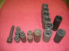 "Lot of 3/8"" Drive Sockets, 16pc Total, 6 Point Impact, USA Made New Old Stock"