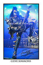 GENE SIMMONS - HUGE AUTOGRAPHED PHOTO POSTER PRINT - GREAT GIFT - GET IT NOW!