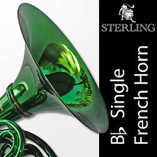 GREEN • Bb Single STERLING FRENCH HORN • Pro Quality • BRAND NEW • With Case •