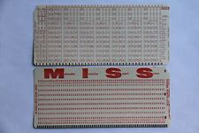 Rare Computer Mark Sense & Punch Card Matched Set Bubble in Hollerith LA Unified