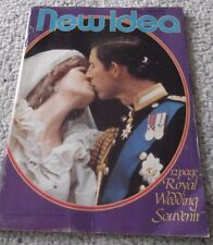 1981 PRINCESS DI AND CHARLES WEDDING SOUVENIR, AUSTRALIAN NEW IDEA, COMPLETE