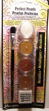 Perfect Pearls METALLICS Pearlescent Pigment Powder Set w/ Brushes & Stamp pad