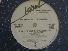 """FRANKIE GOES TO HOLLYWOOD WARRIORS OF THE WASTELAND 12"""" 1986 PROMO SYNTH POP VG+"""