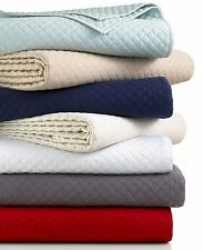 CHARTER CLUB Damask Quilted TWIN Coverlet & Standard Sham Set WHITE A1097