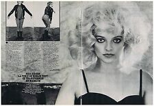 COUPURE DE PRESSE CLIPPING 1980 NINA HAGEN la furie de Berlin            2 pages