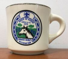Vtg ORDER OF ARROW 1970 McKee Scout Reservation BSA Boy Scouts Coffee Mug Cup KY