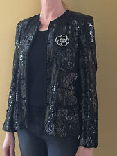 CHANEL black evening jacket Sz.38 Mint condition.