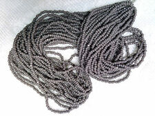 Vtg HANK CASHMERE GRAY CHARLOTTE GLASS SEED BEADS 11/0   #102014x