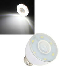 E27 3W White 350LM 6 SMD 5730 Microwave Radar Body Sensor LED Light Bulb 220V