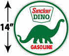 LARGE SUPER HIGH GLOSS OUTDOOR 14 INCH SINCLAIR DINO ROUND DECAL STICKER
