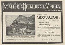 Z1087 Radiatori AEQUATOR - Albergo S. Martino Castrozza - Pubblicità - 1934 Ad
