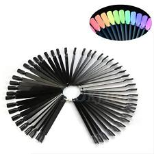 50 Fan False Nail Tip Stick Palette Swatch Manicure Polish Gel Display Practice