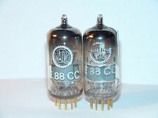 Matched Pair Valvo Siemens E88CC 6922 Vacuum Tubes Strong Balanced