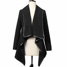 Fashion Women Winter Trench Coat Ladies Long Sleeve Wool Jacket Parka Cardigan