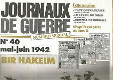 JOURNAUX DE GUERRE N°39 7 JUIN 1942 L'ETOILE JAUNE