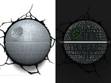 3D FX Deco LED Night Light Star Wars Death Star Wandlampe Nachtleuchte Achtlicht