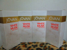 JOVAN WHITE MUSK COMBO 4 FOUR BOTTLES 3.25 OZ / 96 ML COLOGNE SPRAY FOR WOMEN