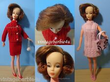 Mitzi Reliable Canada Titan Side Part HTF Clothes Lot VTG 1960 Barbie Doll LAL