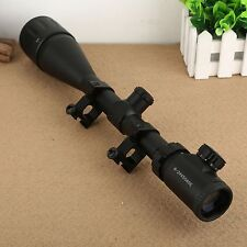 Tactical 6-24x50 Red Green Mil-dot Sight Scope Illuminated Optics with 20mm Rail