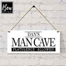 036 HAND MADE GARAGE SHED DEN MAN CAVE SIGN FATHERS DAY GRANDAD PERSONALISED