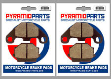 Kawasaki 250 Estrella 1992 Front & Rear Brake Pads Full Set (2 Pairs)