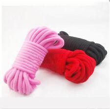 Set of 3 Soft Cotton Bondage Ropes 10m (33ft)-Shibari Japanese Silk fetish kinky
