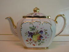 Vintage Sadler England Bone China Teapot Fruit Design Medley 1950s