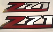 Z71 decal silverado sticker (set) brushed chrome and red