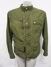 MATCHLESS LONDON Men's Large Green Tan Baker Cloth Moto Jacket MSRP $895 H275
