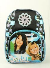 "iCarly I Carly School Large 16"" Backpack Girls large Bag with water holder Black"