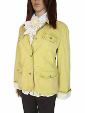 MAX MARA Designer Women's Ladies Yellow Cotton Casual Jacket sz 14 IT46 AM37