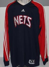 Vintage New Jersey Nets adidas Clima365 Workout Men's Long Sleeve Shirt Size XLT