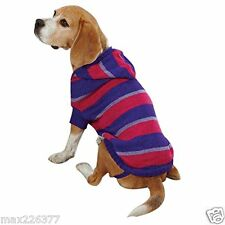 New Dog Striped Knit Hoodie Sweater Hoodies Violet Pet Winter Warm Large L