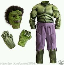 The Avengers Muscle Deluxe Hulk Disney Costume Marvel Comics 7-8 NWT