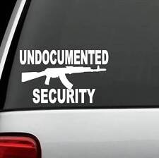 D1110 Undocumented Security Decal Sticker AK47 Pro Gun Rights Laptop Surface Art
