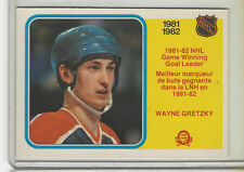 1982-83 OPC #242 WAYNE GRETZKY GAME WINNING GOAL LEADERS NICE CARD