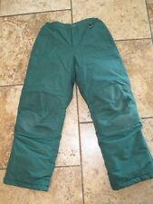 Lands End 10 green ski snow pants reinforced knees