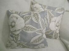 "FLORIA  BY HARLEQUIN 1 PAIR OF 18"" CUSHION COVERS - DOUBLE SIDED & PIPED!"