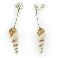 Swarovski orecchini donna a clip con pendente conchiglia coral earrings 894885