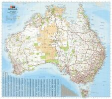 MEGA MAP OF AUSTRALIA (LAMINATED) POSTER (148x169cm) ROLLED WALL CHART GIANT