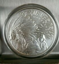 1oz 999 Silver shield Never Trust Government Sioux natives crazy horse lakota