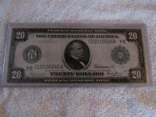 Series of 1914 $20 Federal Reserve Note, F-989