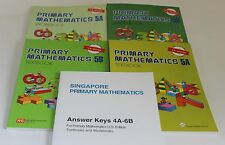 Singapore Primary Math Level 5 + Answer Booklet (US ED)-Textbook/Workbooks 5A+5B
