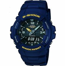 G-Shock Blue Watch Chronograph Dual Time G-100-2BVMUR