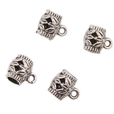 50x Lots Hot Tibetan Silver Three Flower Hollow Barrel Charms European Beads L