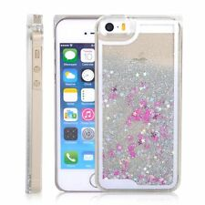 White Moving Stars Liquid Glitter Quicksand 3D Bling iPhone 6 Case Cover UK